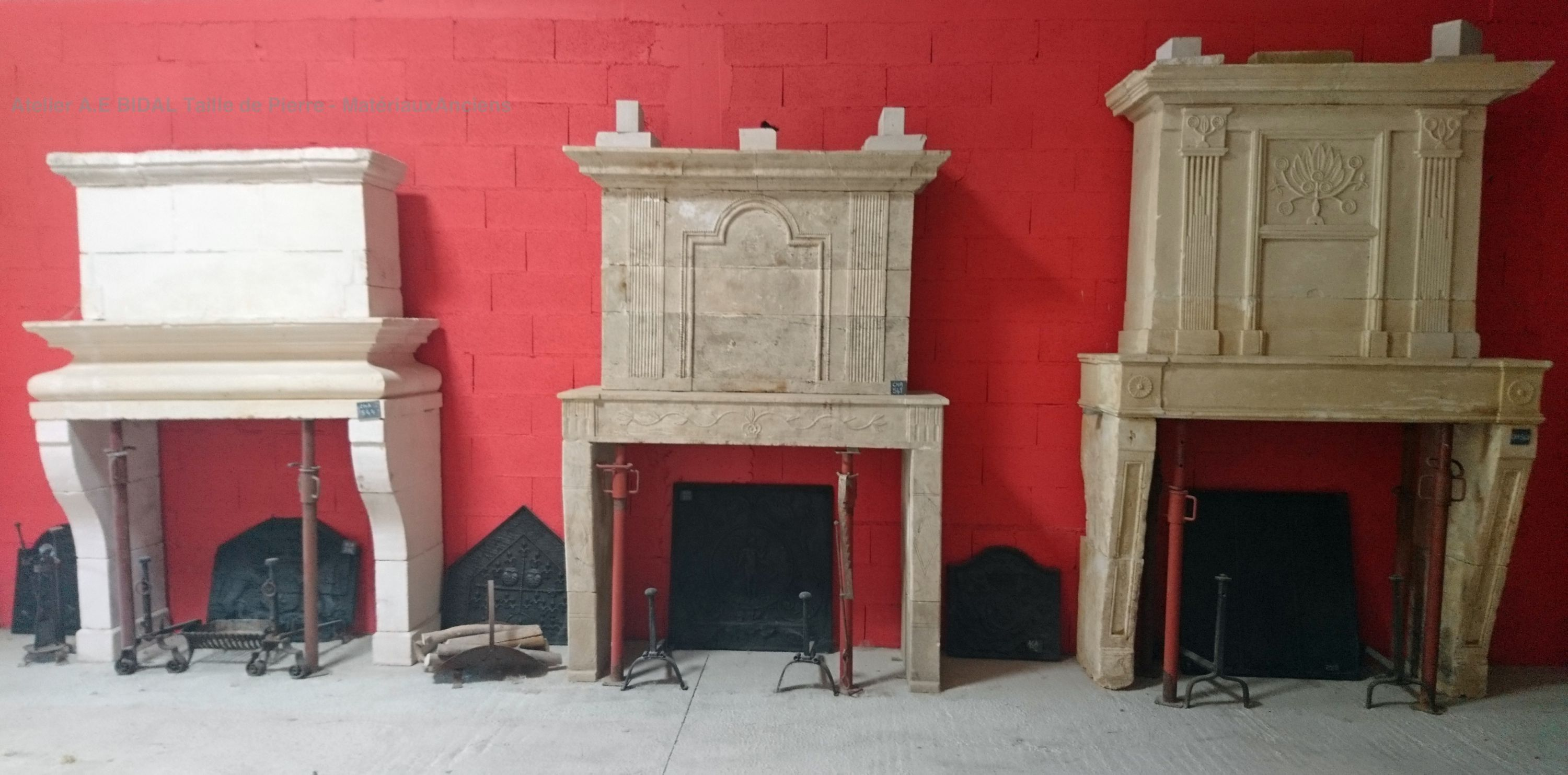 Alain Bidal alain bidal offers a very large choice of antique fireplaces in stone.