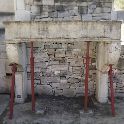Louis 14 fireplace - an antique stone fireplace that comes from Joan of Arc birth place.