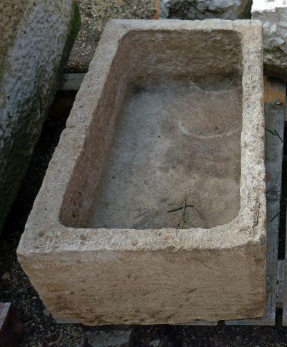 Antique stone trough for sale at the Antique Materials in Provence by Alain Bidal