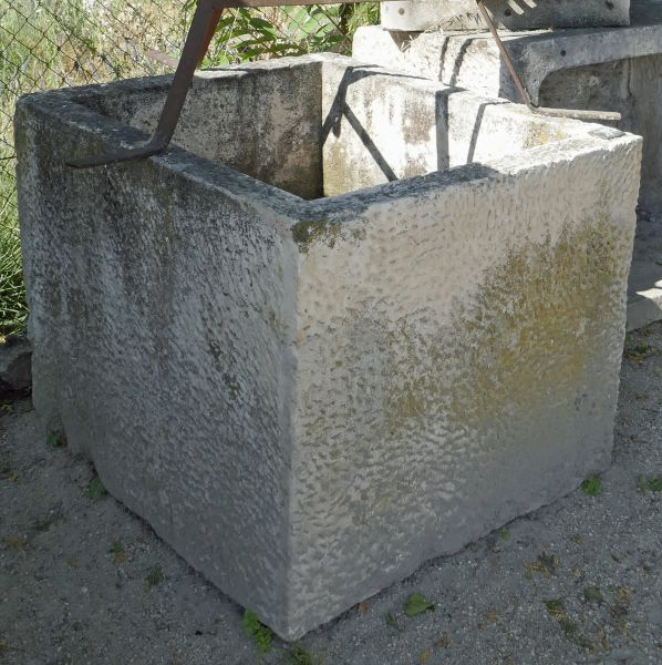 Antique stone trough that can have many uses - rectangular trough with a nice depth.