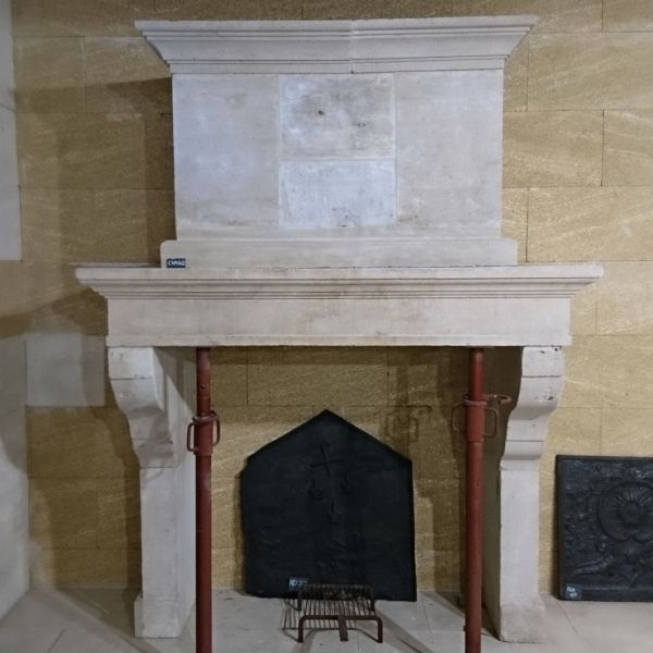 Antique Louis 14 fireplace -  Antique French limestone fireplace.