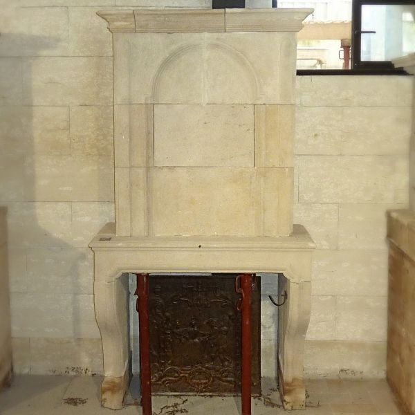 Lovely fireplace with overmantle stone fireplace carved with finesse and skills.