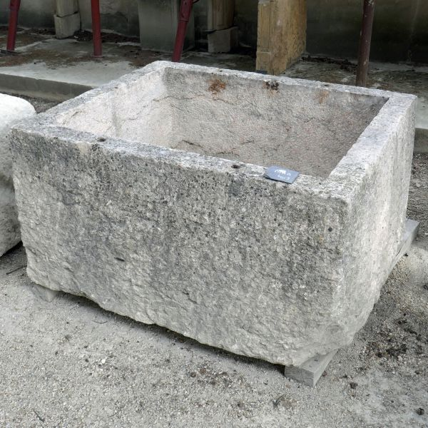 Large stone trough - an antique stone trough formerly used as a food pantry.