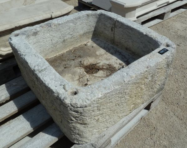 Old stone basin - square stone basin, from old craftmen of the past.
