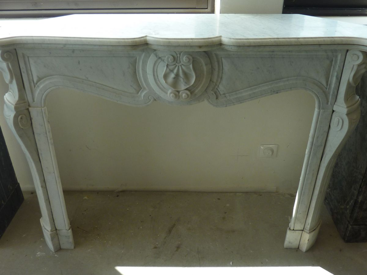 White marble mantels