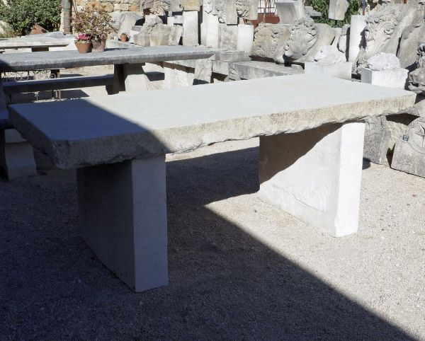 Our old garden furniture: beautiful old table made of massive stone.