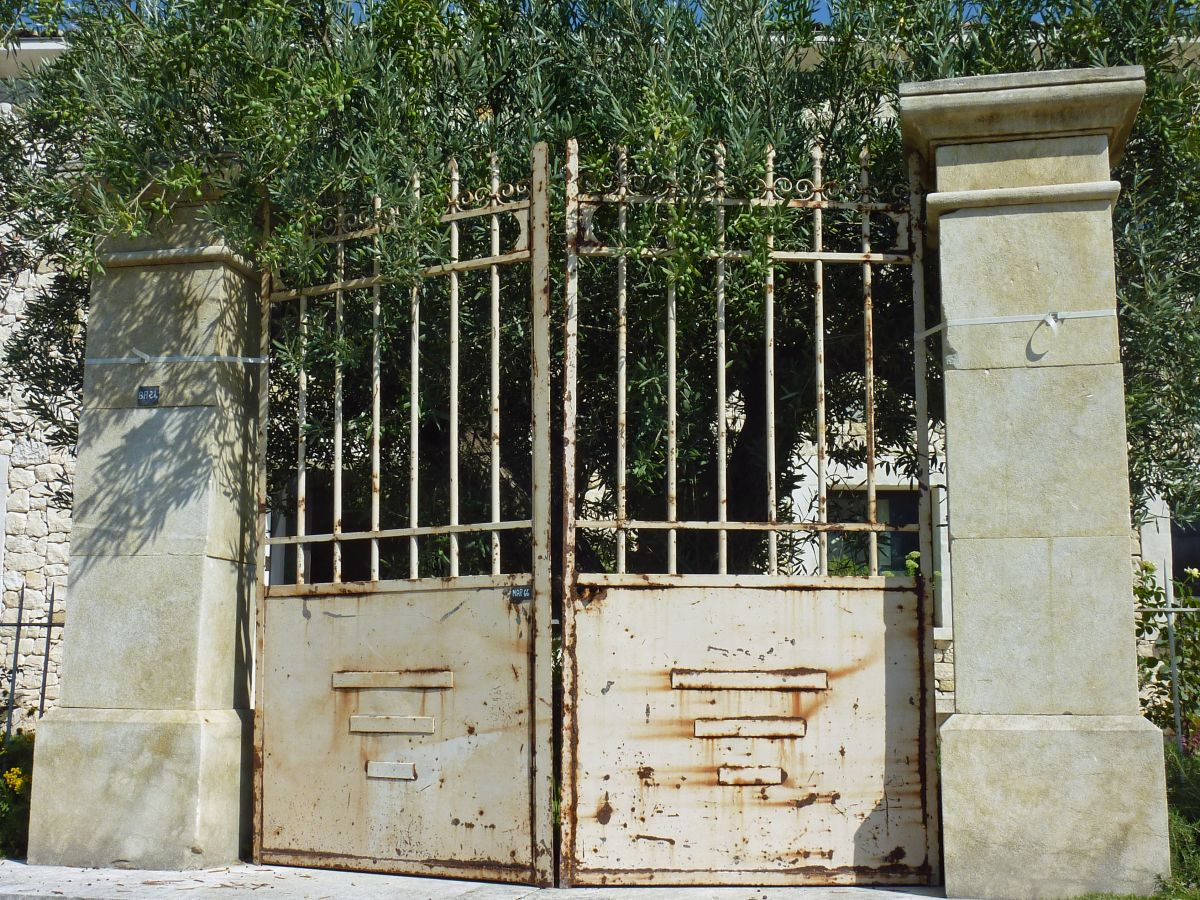 Antique wrought-iron gates