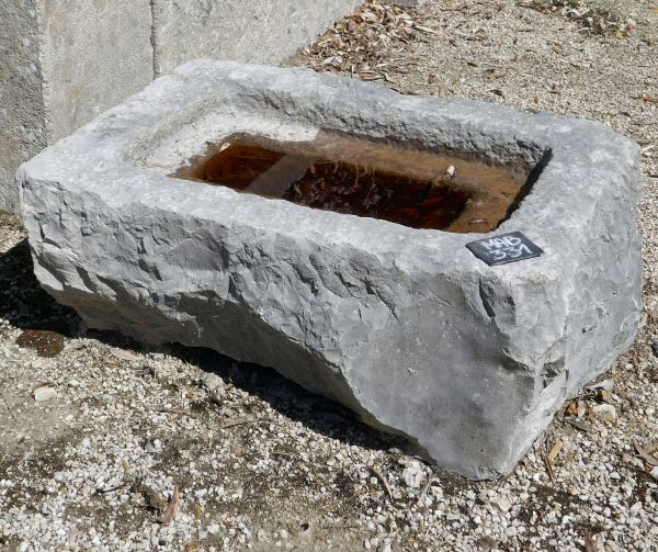 "Nice little old stone basin callled stone basin in a ""bird bath""style."
