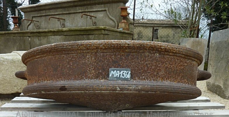 Beautiful old trough - circular oval shaoed trough.