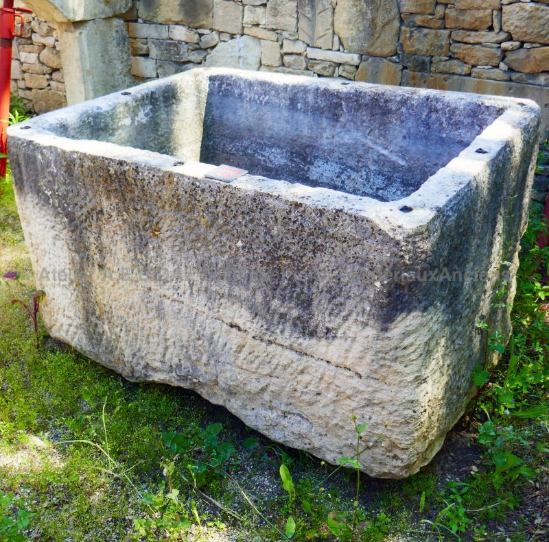 Large massive antique stone trough by The Antique Materials in Provence Alain Bidal