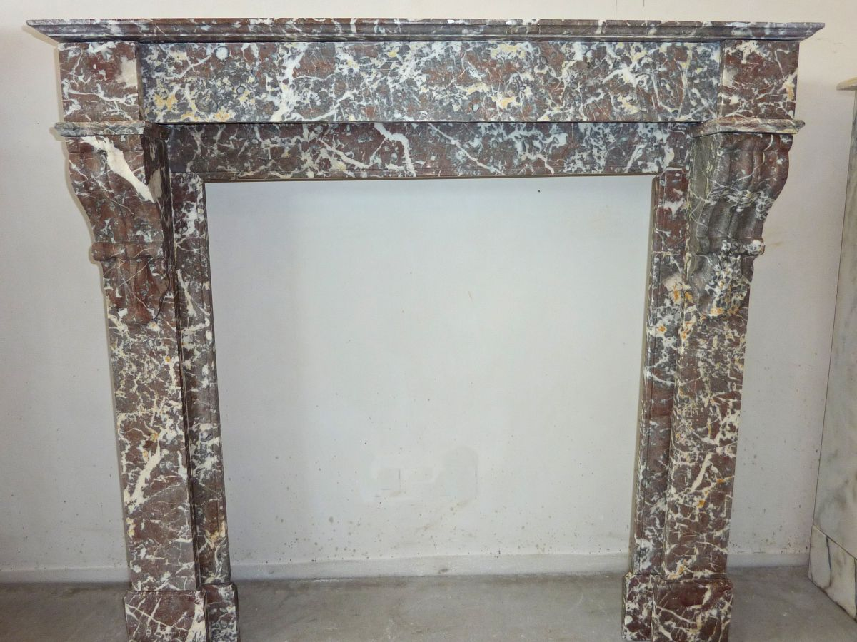 Pink marble mantels