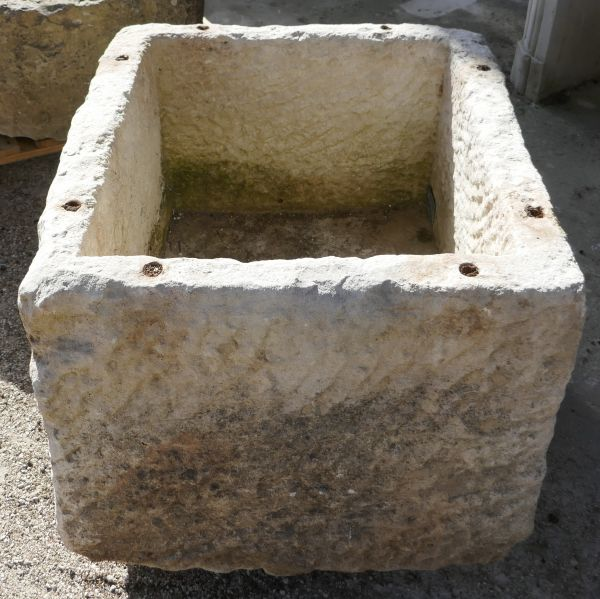 Large antique stone trough - A former food pantry on sale at Alain Bidal Antique Materials dealer in provence.