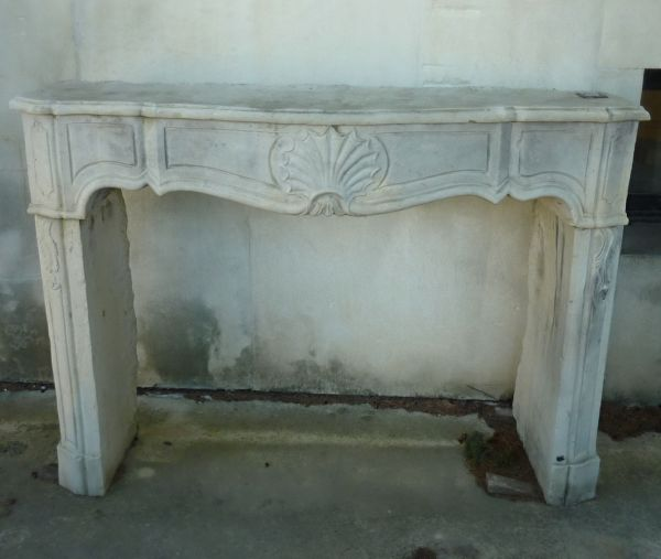 Ancient fireplace : stone fireplace in a Regency style part of the French Cultural Asset.
