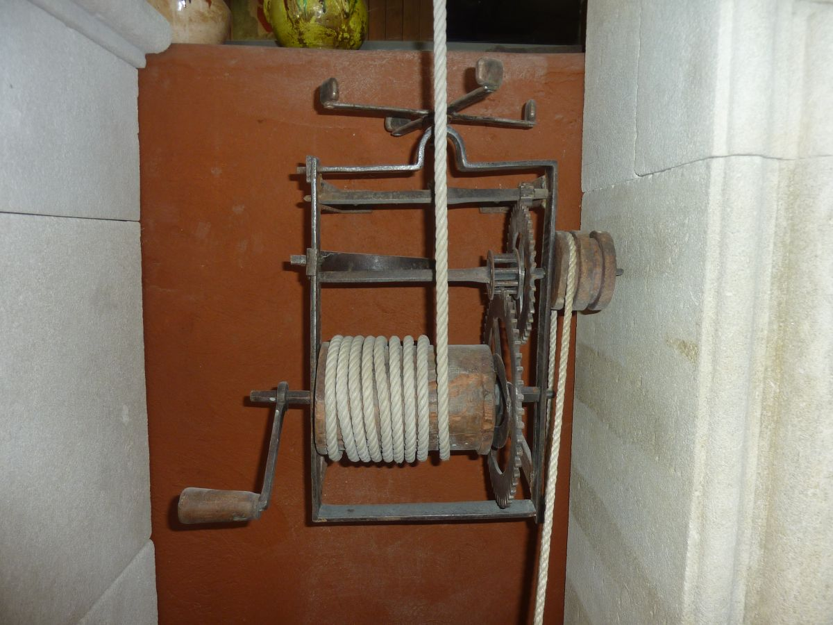Antique rotisserie mechanisms