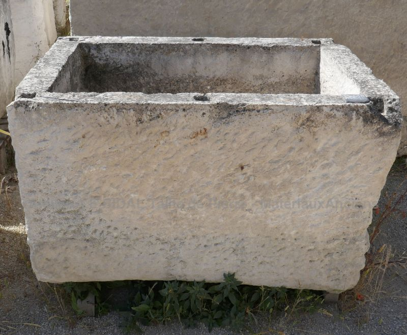 Antique large stone trough on sale at Alain Bidal Antique Materials in Provence