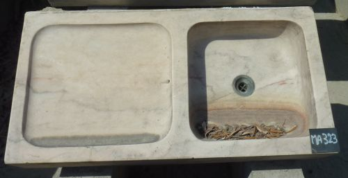 Beautiful marble stone sink - old sink with drainer.
