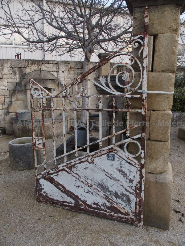 Old gate: our beautiful old wrought iron gate