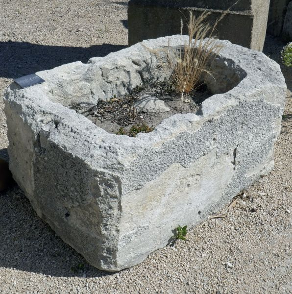 Stone trough - Antique stone trough by Alain Bidal Antique Materials in Provence.