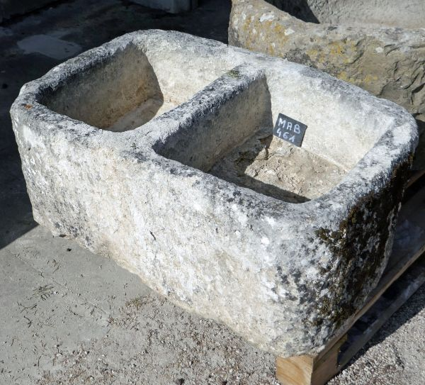 Beautiful and authentic antique rectangular trough - Stone trough for sale at Alain BIDAL Antique Materials in Provence.