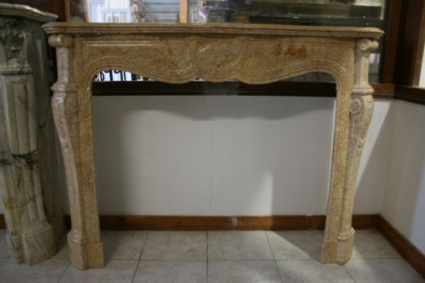 Beautiful old marble fireplace - 19th century fireplace.