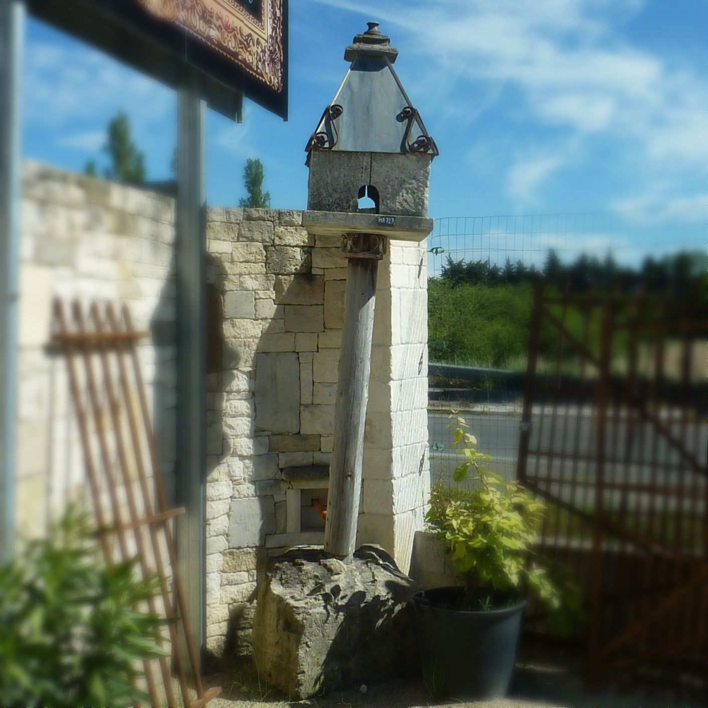 Dovecote made of old materials.