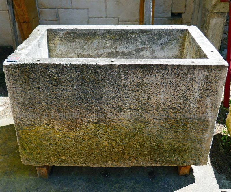Antique rustic stone trough - Provence style large trough in stone.