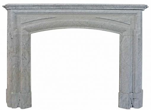 Gray marble fireplace - 19th century fireplace.