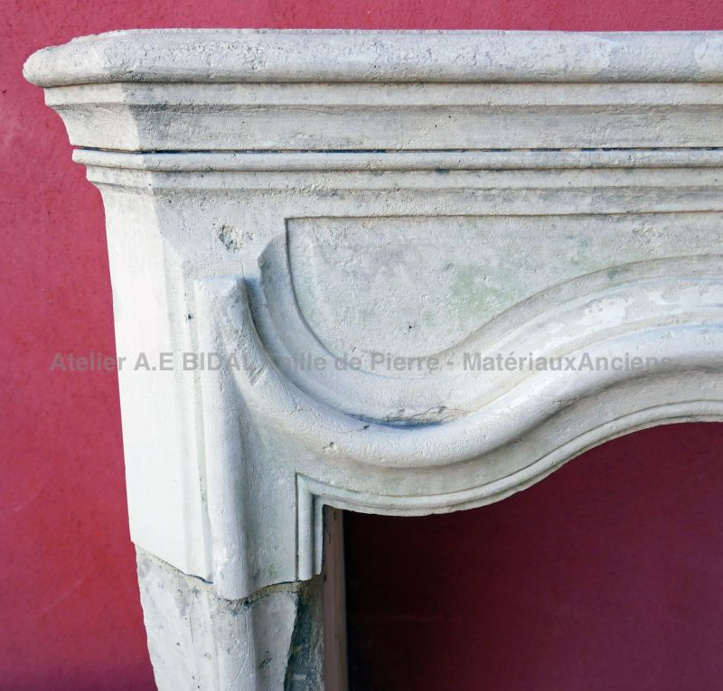 Antique Louis 15 stone fireplace * On sale exclusively at Bidal antique materials - Provence.
