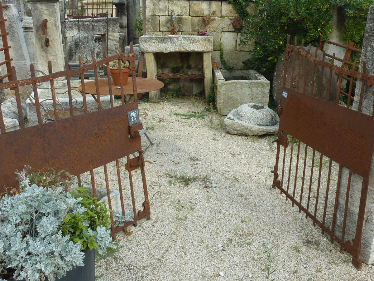 Antique wrought-iron doors & small gates