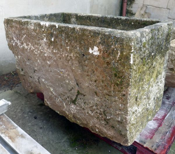 Stone planter or stone fountain : Old stone troughs by Alain Bidal Antique Materials in Provence