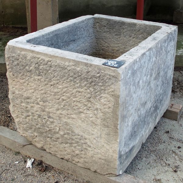 Old stone basin - A Provence rustic-looking trough in stone for a great garden decoaration
