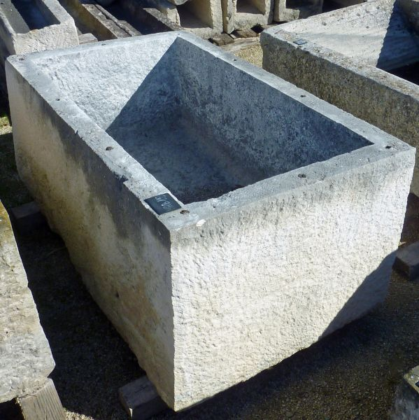 Old stone basin - rectangular basin.