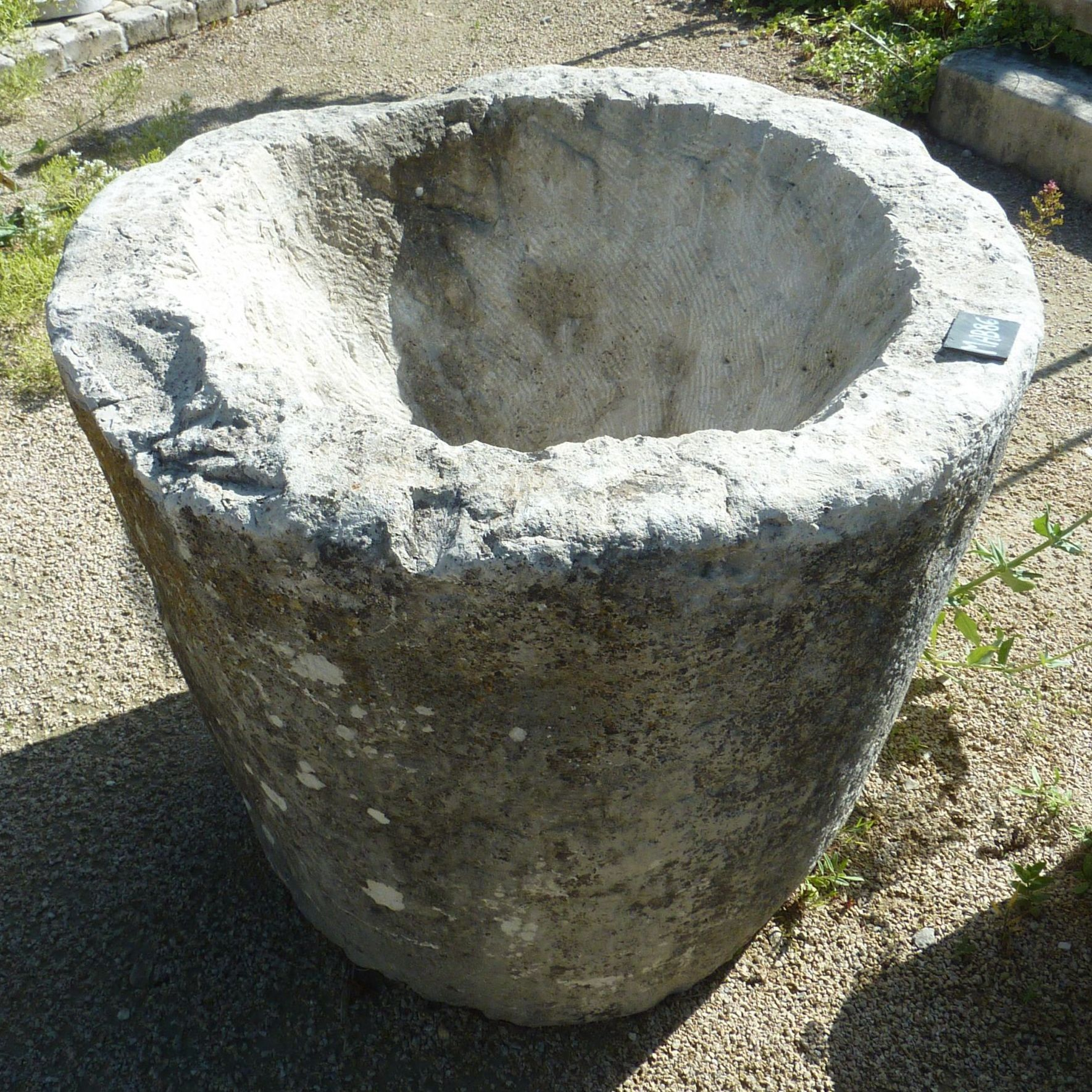 Beautiful circular basin, in a conical shape,  ideal for a planter.
