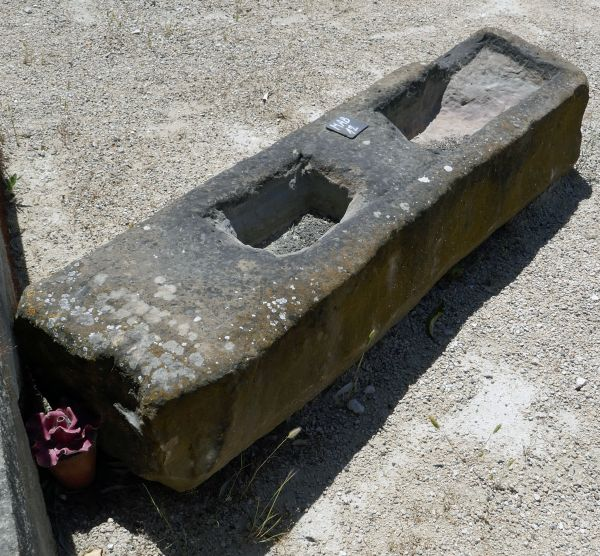 Rare antique trough in stone on sale exclusively at Alain Bidal Antique Materials in Provence.