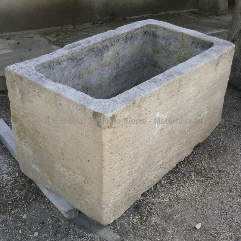 Authentic antique stone trough from Alain Bidal in Provence.