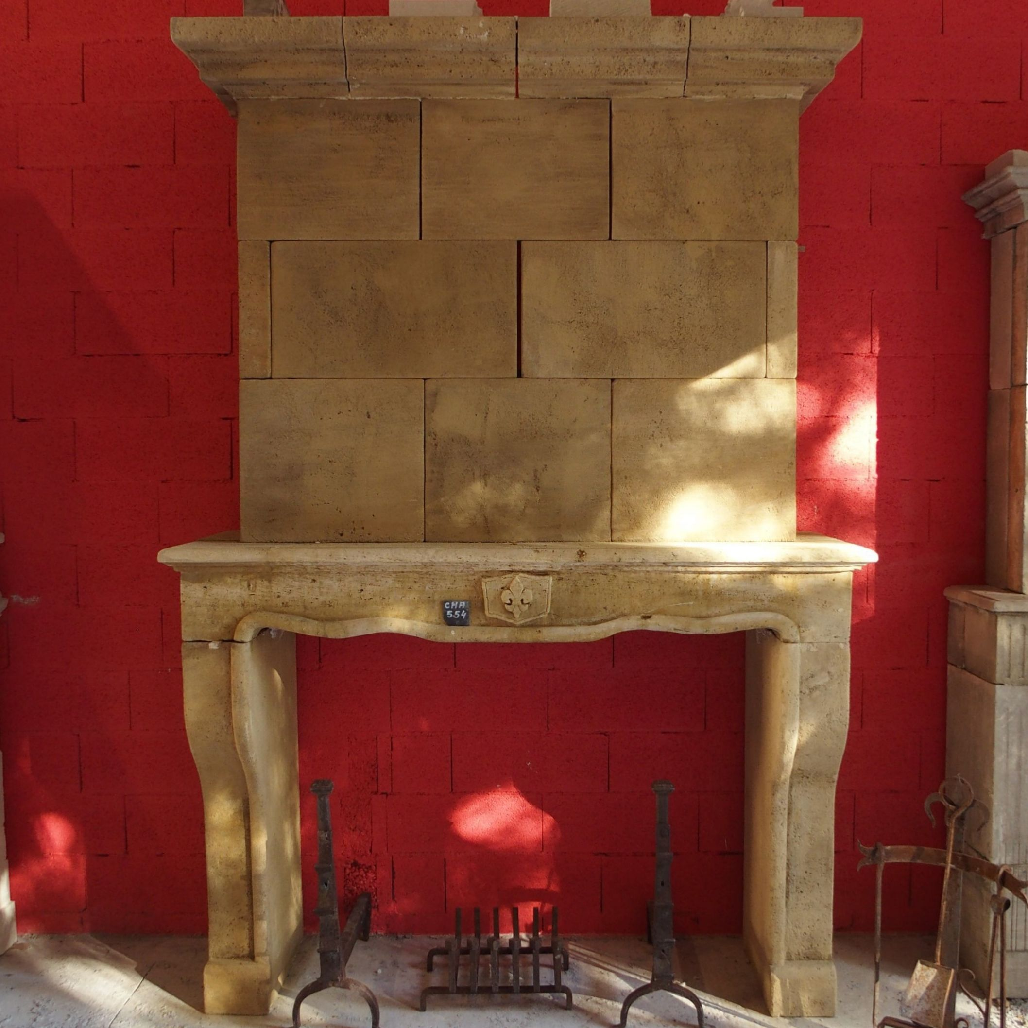 Superb old fireplace - a traditional fireplace dating from Louis XV reign.