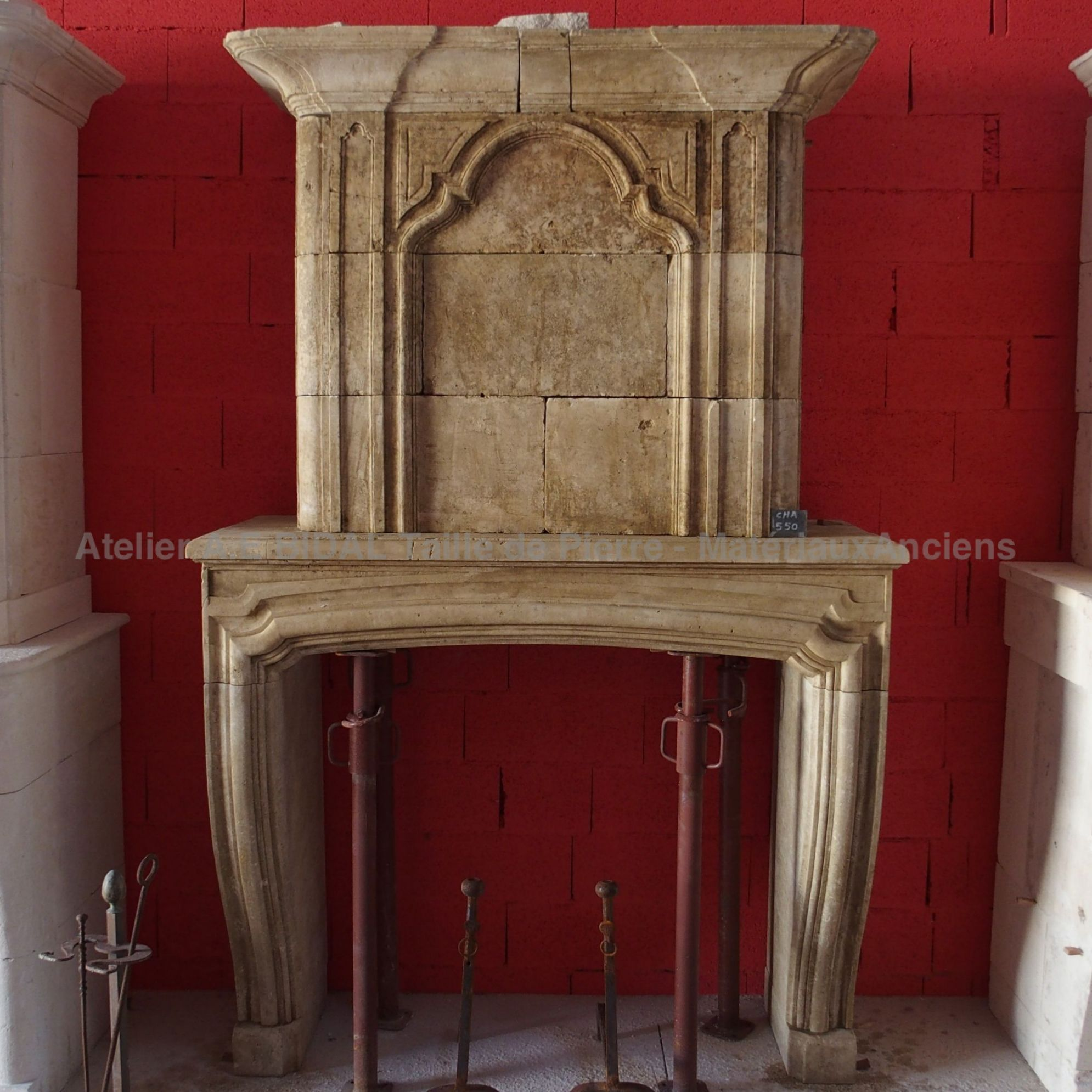 Lovely fireplace with overmantle found in a disused military building.