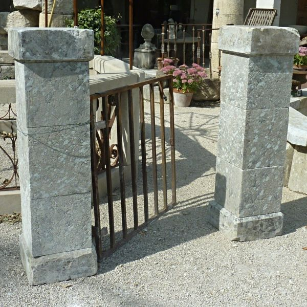 Stone pillars - beautiful pair of old stone pillars for outdoor installation.