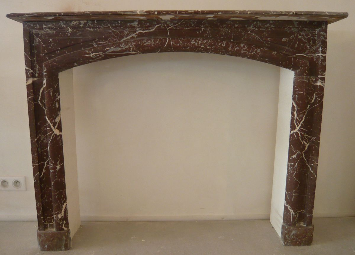 Antique Red Marble Mantel Vintage Marble Fireplace Atelier Bidal
