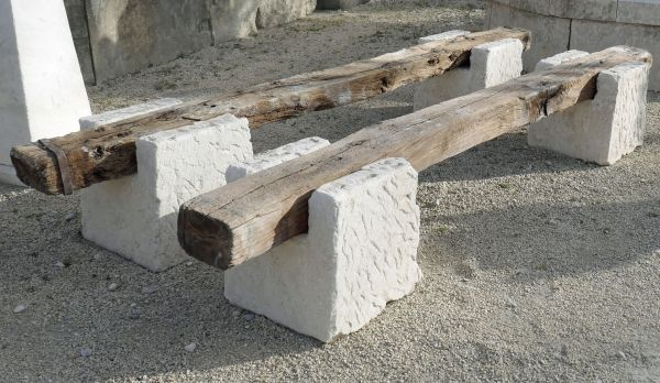 Rustic antique bench full of the Provence charm | Garden bench for sale at Alain BIDAL Antique Materials.