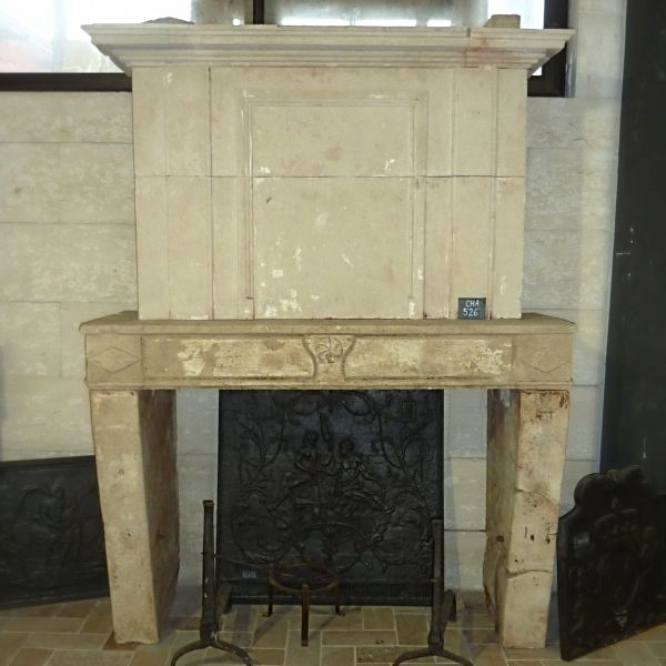 Fireplace with overmantle: our Louis 16 fireplace with a simple and authentic style.