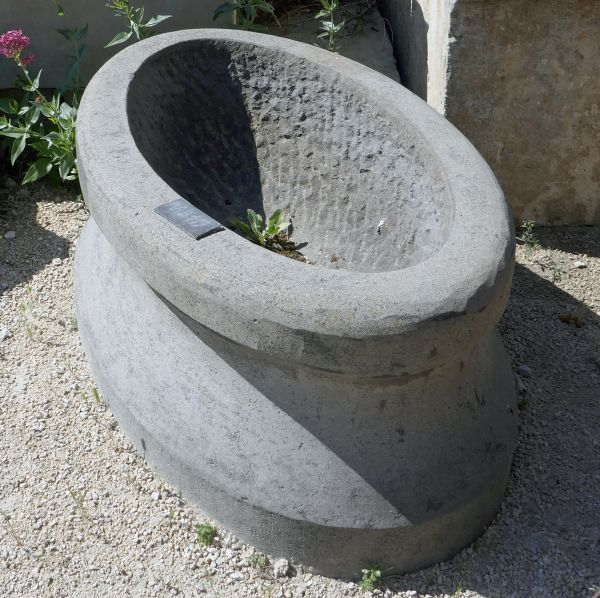 Antique stone trough for sale at Alain Bidal Antique Materials in Provence