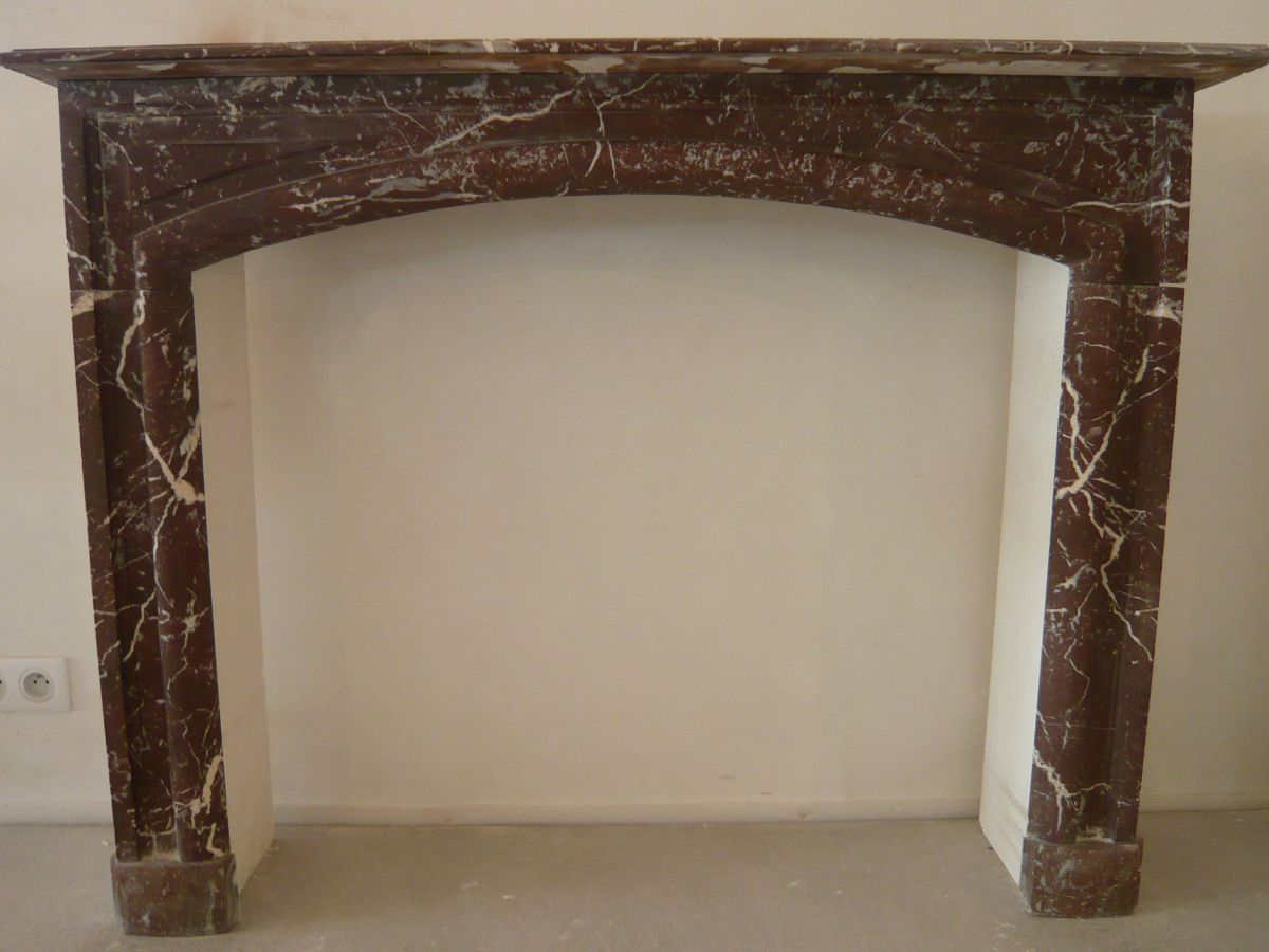 Red marble mantels