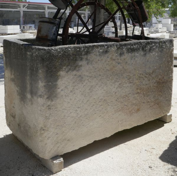 rectangular tray large rustic kind - old stone trough.