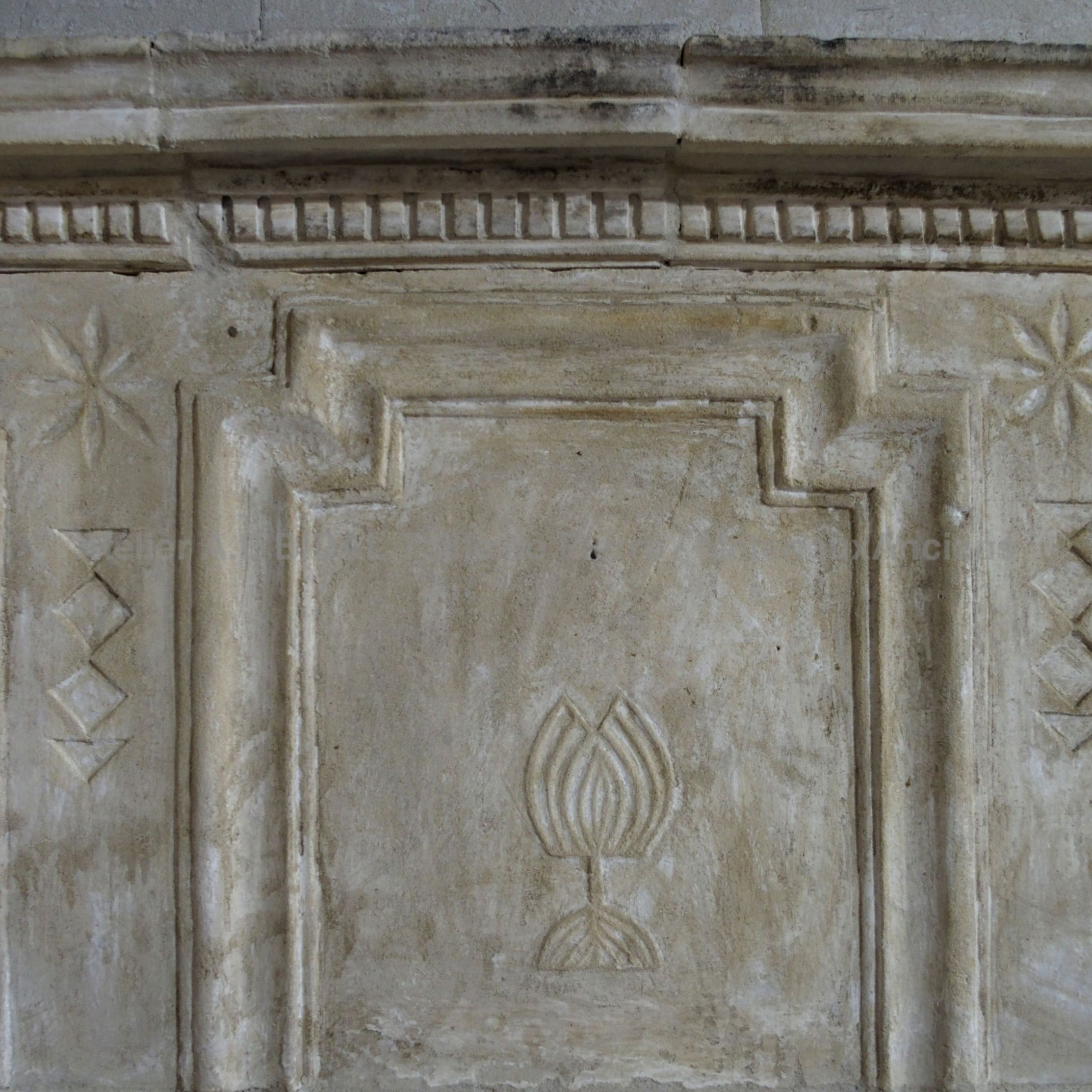 Louis xvi fireplace - an old fireplace with pretty varied patterns.