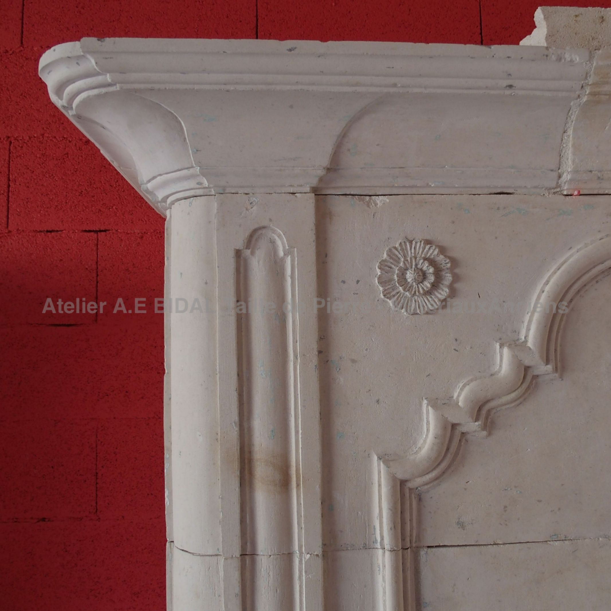 Beautiful old stone fireplace - an old fireplace richly decorated by an old stonemason.