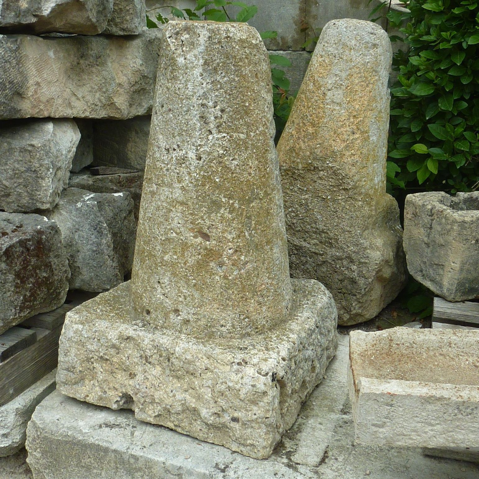 Beautiful stone marker to mark the entrance of your house, for example.