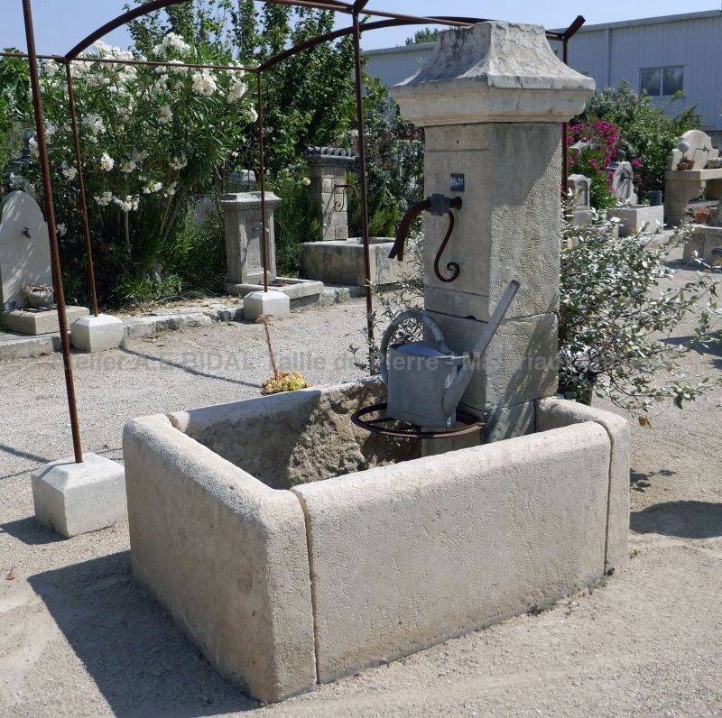 Small fountain for outdoors use | Stone wall fountain for terrace or small garden.