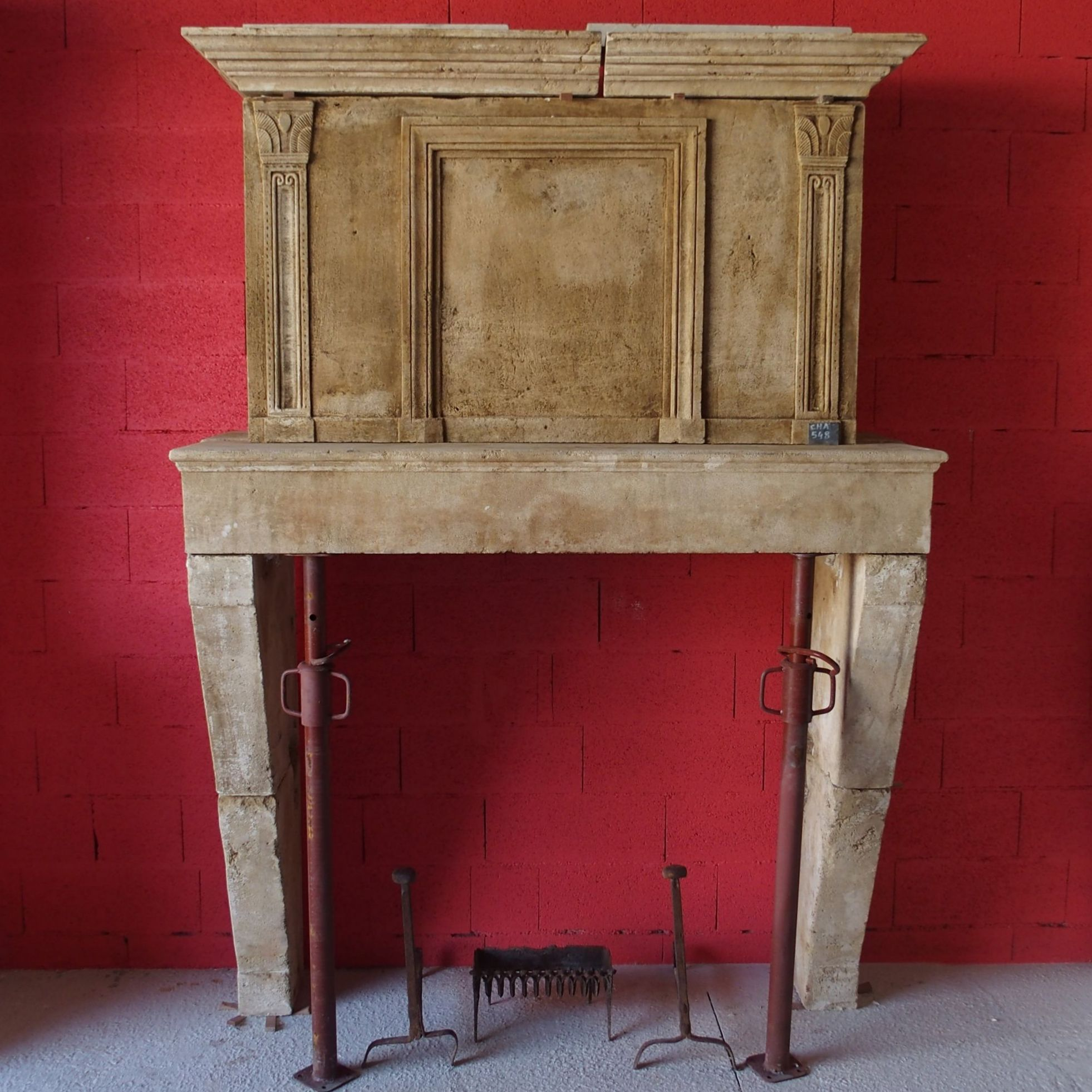 Beautiful old fireplace - rustic fireplace 17th century.