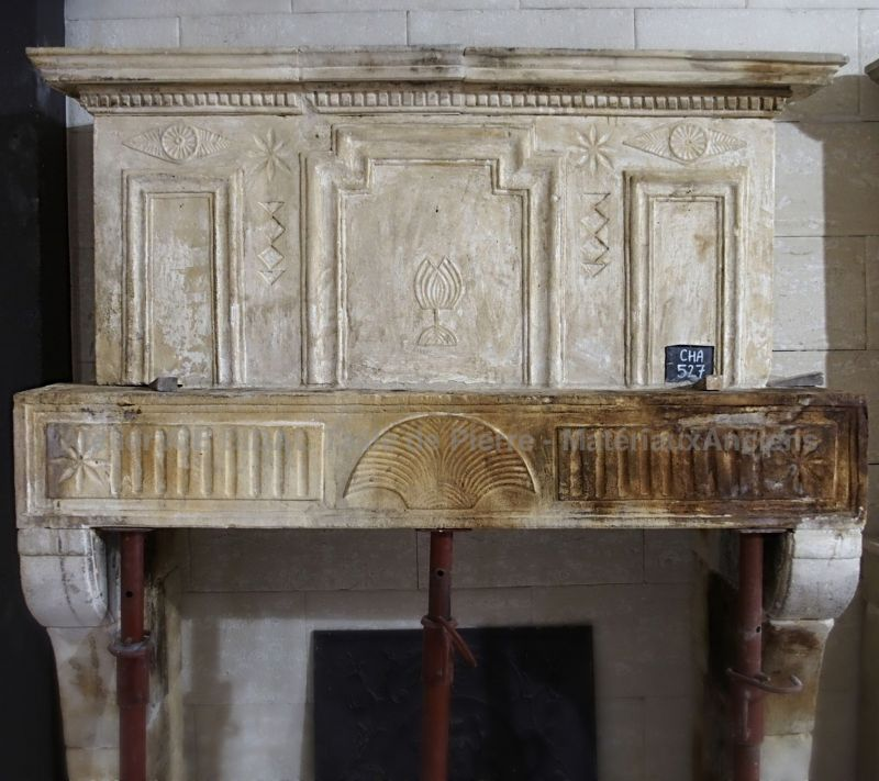 Louis xvi fireplace - richly decorated fireplace.